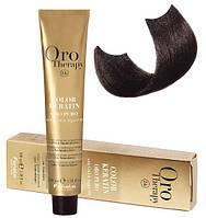 Безаммиачная крем-краска для волос Fanola Oro Therapy №4/0 Chestnut 100 мл