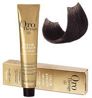 Безаммиачная крем-краска для волос Fanola Oro Therapy №5/00 Intense light chestnut 100 мл