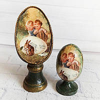Набор интерьрных пасхальных яиц Ручная работа Пасхальный декор и подарок на пасху, фото 1