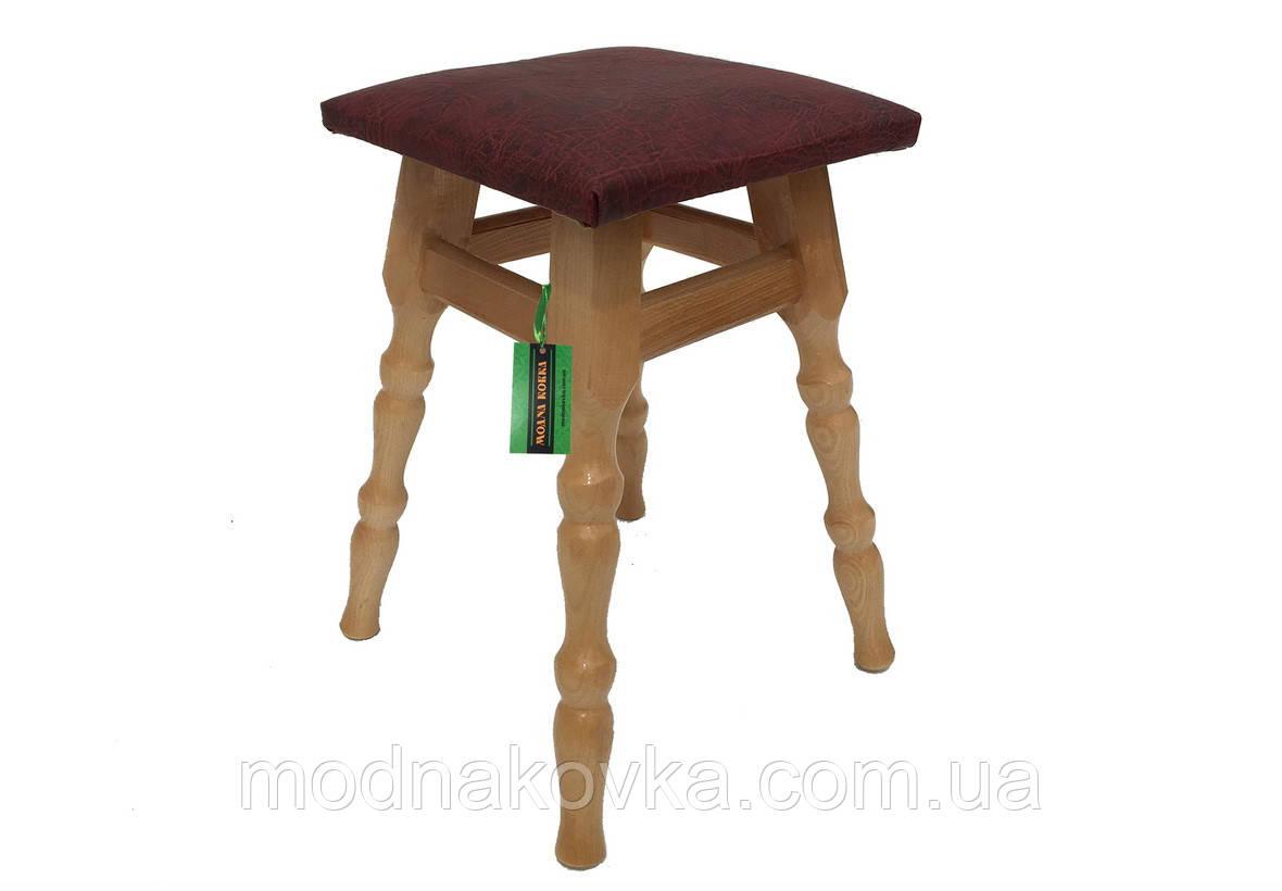 Кухонный табурет с мягким сиденьем, табуретка деревянная сиденье кожзам