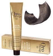Безаммиачная крем-краска для волос Fanola Oro Therapy №6/1 Dark Blonde Ash 100 мл