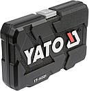 Набор головок ключей инструментов 56 шт Yato YT-14501 Польша, фото 5