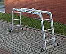 Лестница трансформер Higher 4x3 4-х секционная алюминиевая универсальная раскладная 4х3 12 ступ.3.5м Польша, фото 5