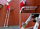 Лестница трансформер Higher 4x3 4-х секционная алюминиевая универсальная раскладная 4х3 12 ступ.3.5м Польша, фото 7