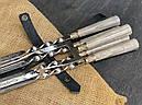 """Шампура подарункові з дерев'яними ручками """"Версаль 2"""" + подвійний шампур, в шкіряному сагайдаку, фото 2"""