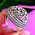 Оригинальное серебряное женское кольцо, фото 3