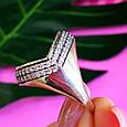 Оригинальное серебряное женское кольцо, фото 4