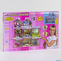 Трёхэтажный кукольный дом 6992 со светом и мебелью высота 109 см