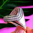 Оригинальное серебряное женское кольцо, фото 2