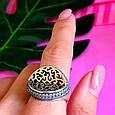 Оригинальное серебряное женское кольцо, фото 9