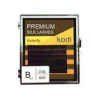 Ресницы для наращивания, черные Kodi Professional №В.0.05 6 рядов: 11-2; 12-2; 13-2