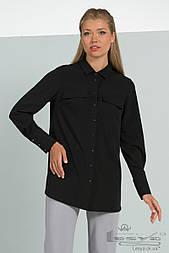 Женская классическая рубашка черного цвета  Lesya КАТИС