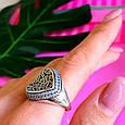 Оригинальное серебряное женское кольцо, фото 8