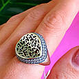 Оригинальное серебряное женское кольцо, фото 7