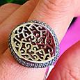 Оригинальное серебряное женское кольцо, фото 5