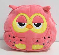 Детский плюшевый рюкзак розовая сова для девочек