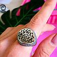 Оригинальное серебряное женское кольцо, фото 6