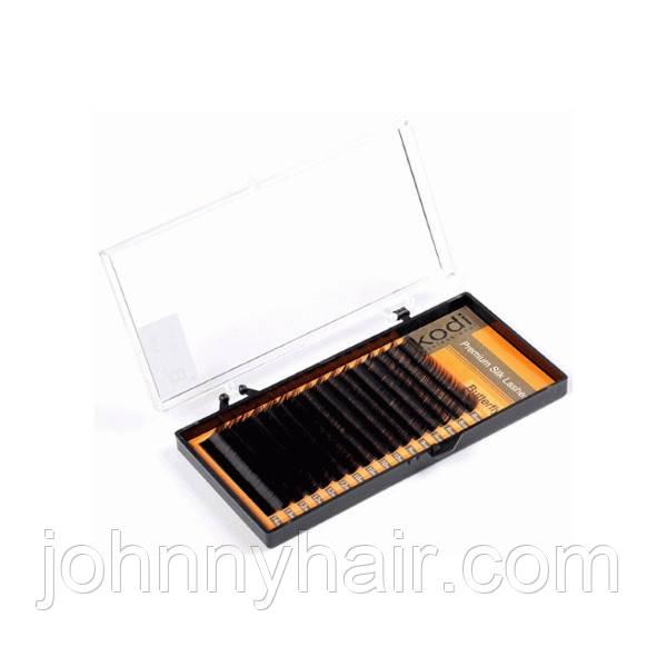 Вії для нарощування Kodi Professional чорні №C. 0.10 16 рядів: 8-14