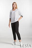 Белая трикотажная блуза свободного фасона Lesya Кения 3 52