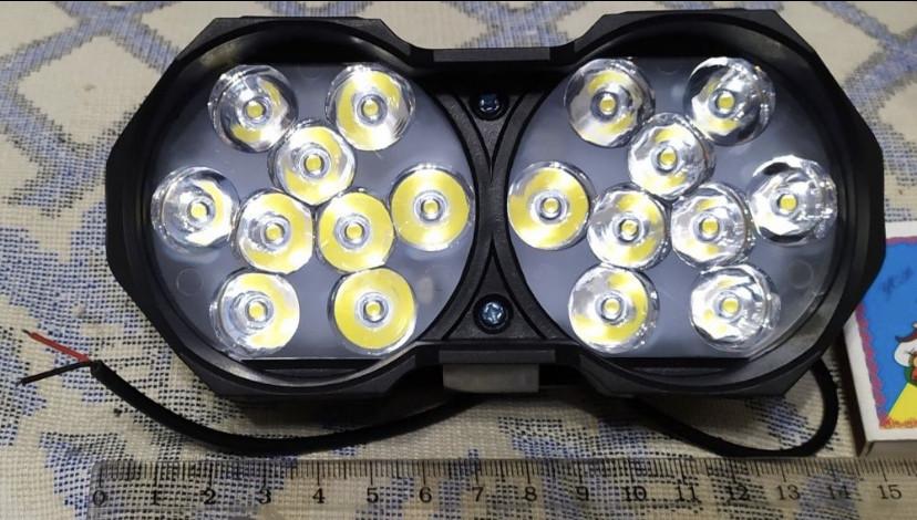 Фары LED 30W мощные светодиодные 15 на 7 см двойные 12-24V с/х техники