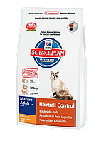 Hill's Feline Mature Adult Hairball Control 7+ Курица 1,5 кг
