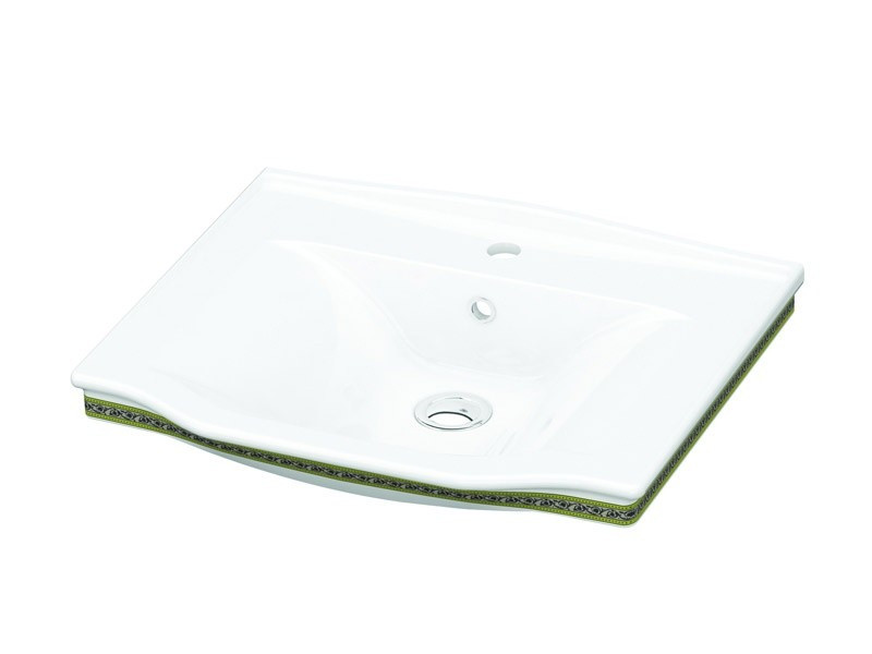 Neo Classic Умывальник белый/декор золото 3301-0655-0088 IDEVIT