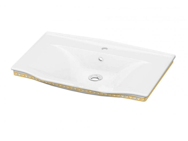 Neo Classic Умывальник белый/декор золото 3301-0805-0088 IDEVIT