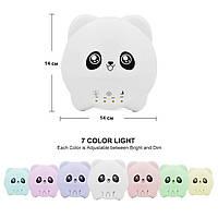 Детский ночник аромадиффузор и увлажнитель воздуха мишка Панда ETEYV 300 мл. 7 цветов White (361-11W)