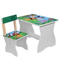 Детский столик 504-11 со стульчиком Зоопарк
