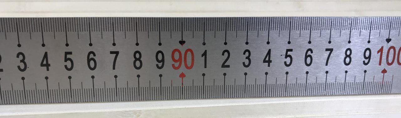 Линейка металлическая 1м, нержавейка 1003812