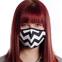 Захисна маска для обличчя багаторазова (бавовна, з кишенею), фото 1