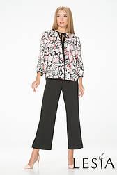 Легкая блуза из шелковистого материала в цветочный принт Lesya СИЕСТА