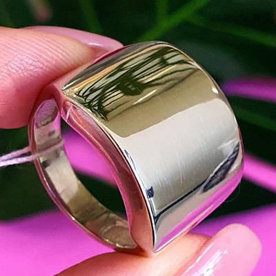Стильне срібне кільце без каменів - Жіноча широке кільце з срібла