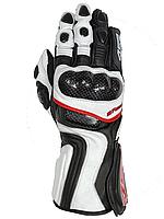 Мотоперчатки 4SR 001 (белые)