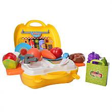 Набор продуктов ВОША 8349 в чемодане Желтый
