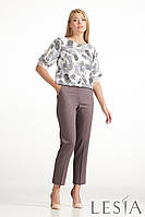 Женская блуза с растительным узором  Lesya Паола 4