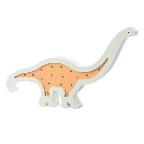 Деревянная игрушка ночник Tree Toys MD 2079 динозавр Оранжевый (2079-1), фото 2