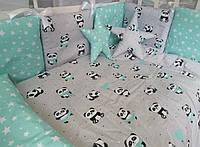 Набор детского постельного белья Bonna Звезды ( панда) 9 предметов