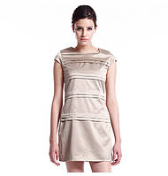 Модное Платье женское Misun летнее черный бежевый
