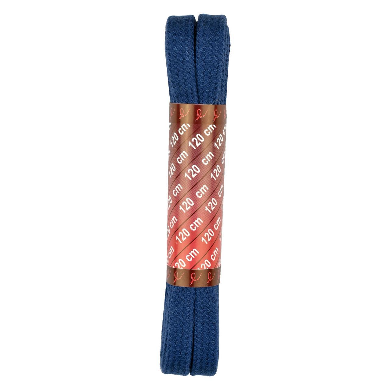 Шнурки плоские 120 см., синие