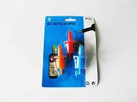Пробки пластмассовые в наборе из 3-х с дозатором VT6-19256
