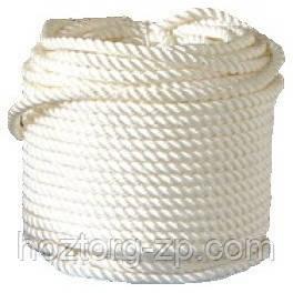 Верёвка (канат) д.8 мм-1700 кгс якорная, лодочная(50м)