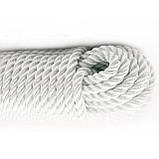 Верёвка (канат) д.8 мм-1700 кгс якорная, лодочная(50м), фото 7