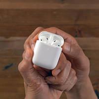 Беспроводные Bleutooth Наушники Apple AirPods 2 с безпроводной зарядкой кейса. Безпровідні навушники Аирпод 2