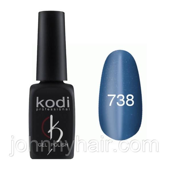 """Гель-лак для ногтей Kodi Professional """"Cat Eye"""" №738 8 мл"""