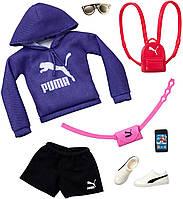 Одежда для кукол Барби Barbie PUMA Fashion Pack Purple Hoodie, Black Shorts & 6 Accessories Dolls GJG29