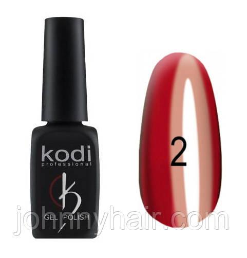 """Гель-лак для нігтів Kodi Professional """"Crystal"""" №02 8 мл"""