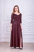 Вечернее длинное платье большого размера с коротким рукавом (XL, XXL, XXXL)
