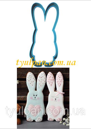 Вырубка для пряника зайка кролик 10 см