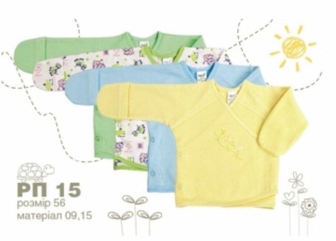 Сорочечка на кнопках,белаяс баранчиками ТМ Бембі РП 15 кулір,бавовна 100 %,розмір 56